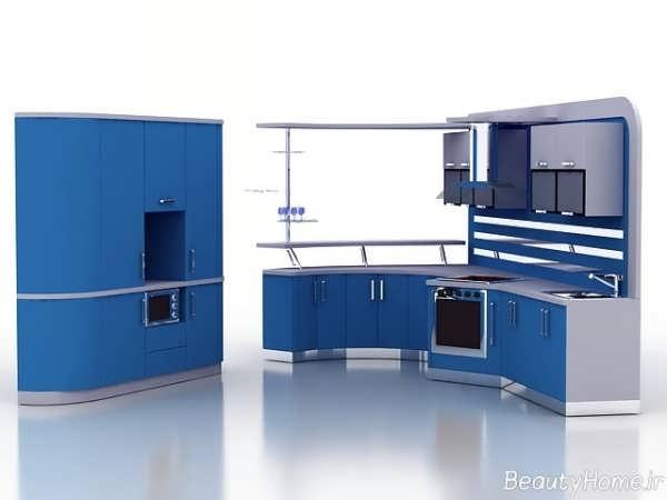 دکوراسیون آشپزخانه آبی