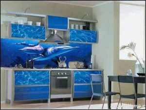 دکوراسیون آبی آشپزخانه مدرن
