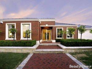 نمای آجری زیبا و شیک ساختمان ویلایی