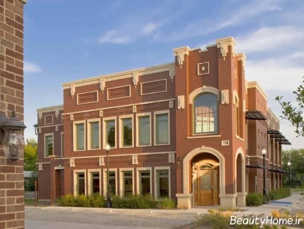 نمای آجری زیبا و جدید برای ساختمان مسکونی