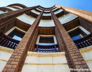 طراحی زیبا و کاربردی نمای ساختمان با سنگ و آجر