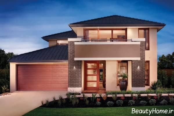 طراحی نمای خارجی ساختمان مدرن با آجر