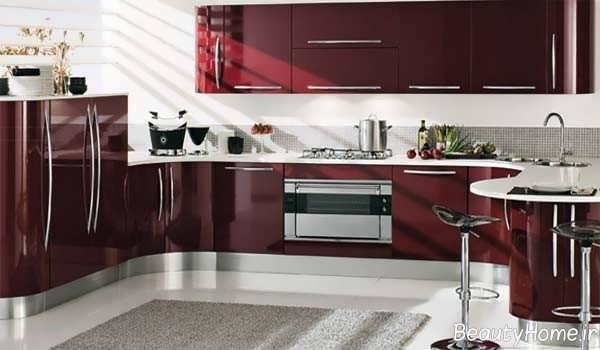 دکوراسیون زرشکی آشپزخانه