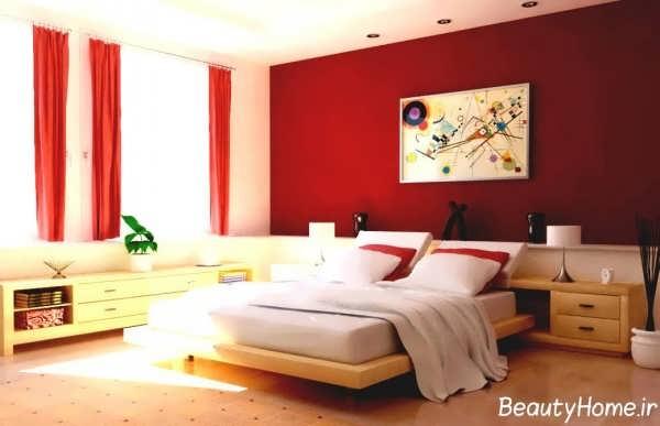 دکوراسیون داخلی زرشکی اتاق خواب