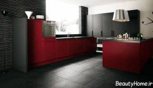 طراحی دکوراسیون داخلی زرشکی برای آشپزخانه