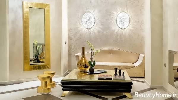 طراحی زیبا و شیک اتاق پذیرایی