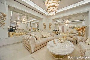 دکوراسیون طلایی و سفید