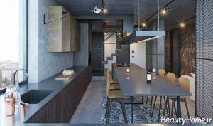دکوراسیون داخلی آشپزخانه با تم اروپایی