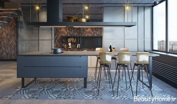 دکوراسیون متفاوت و جذاب آشپزخانه