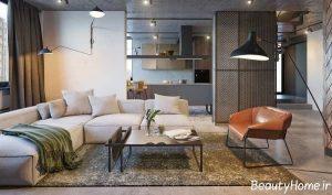 طراحی دکوراسیون اتاق نشیمن با سبک اروپایی