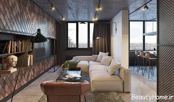 طراحی دکوراسیون داخلی خانه ای متفاوت و خشن