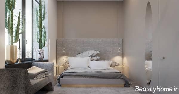 دکوراسیون خاکستری اتاق خواب