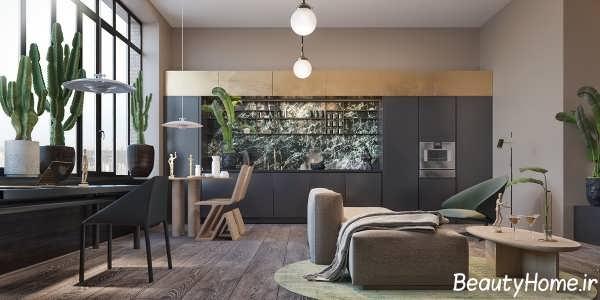 دکوراسیون خانه ای متفاوت با طراحی داخلی شیک
