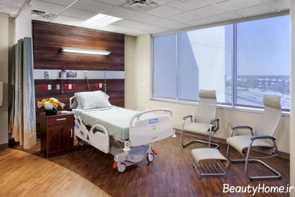 دکوراسیون زیبا و جذاب اتاق بیمار