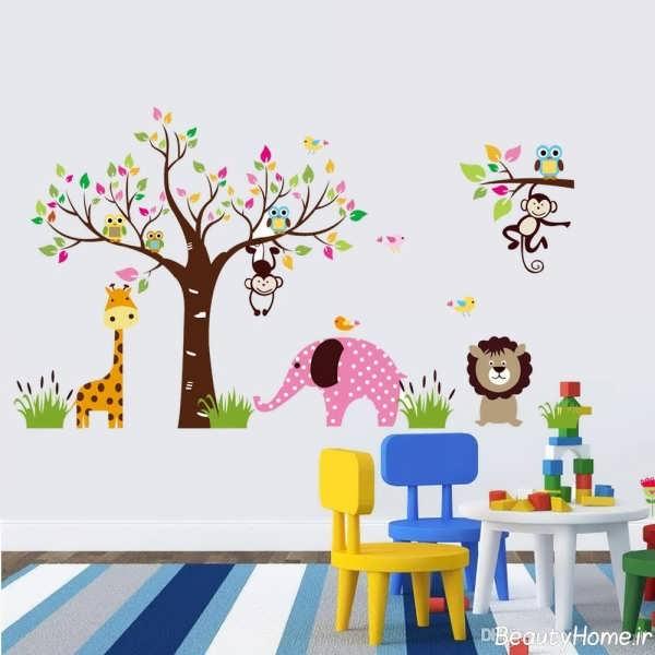 طراحی روی دیوار مهد کودک