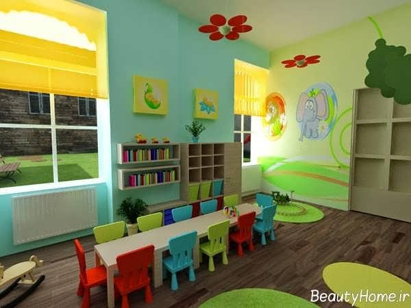 طراحی کاربردی و شیک دکوراسیون داخلی برای مهد کودک