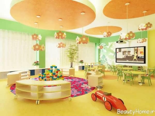 طراحی دکوراسیون داخلی کاربردی و شیک مهد کودک