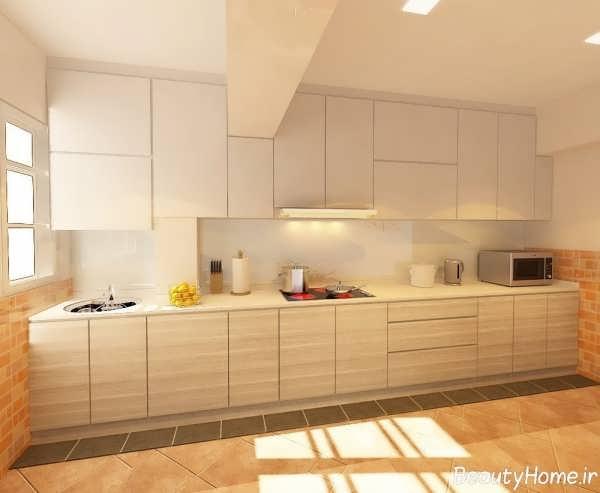 طرح کابینت آشپزخانه با رنگ سفید