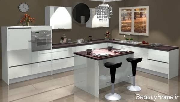 مدل کابینت با طرح شیک برای آشپزخانه مدرن