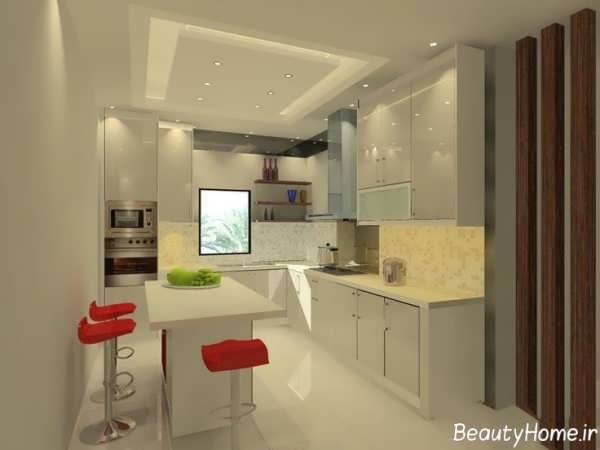 مدل کابینت هایگلاس آشپزخانه