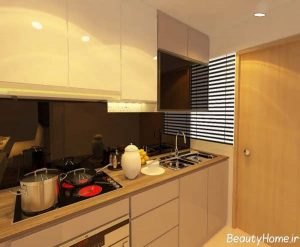 طرح زیبا و شیک کابینت آشپزخانه