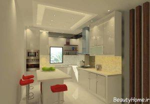 مدل کابینت براق آشپزخانه