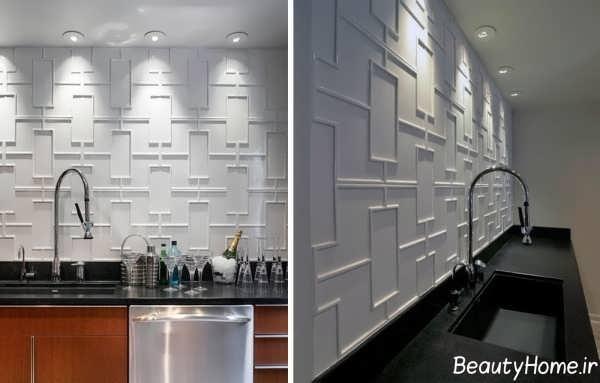 مدل کاشی آشپزخانه با رنگ سفید