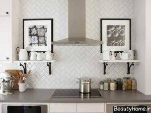 مدل کاشی سفید آشپزخانه