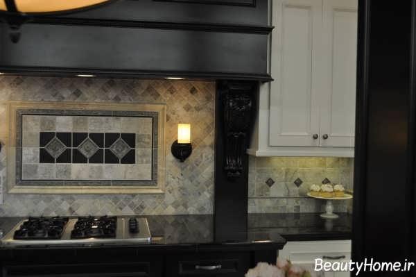 مدل کاشی طرحدار و زیبا آشپزخانه