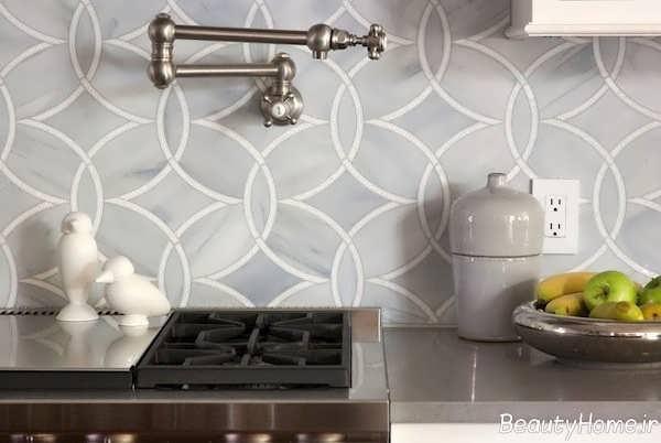 کاشی آشپزخانه با طرح شیک و جدید