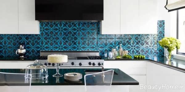 مدل کاشی گلدار آشپزخانه
