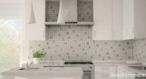 مدل کاشی آشپزخانه با رنگ روشن