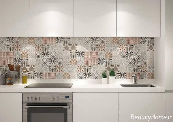 مدل کاشی طرح دار و زیبا آشپزخانه