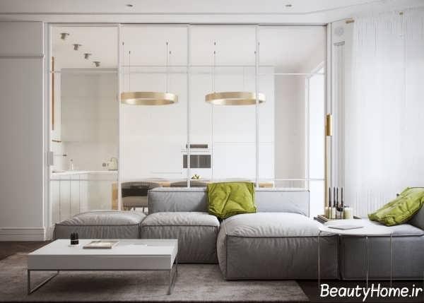 نورپردازی آپارتمان مدرن و شیک