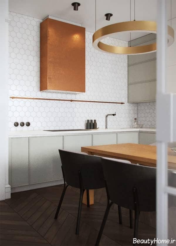 نورپردازی آپارتمان دو خوابه با دکوراسیون مدرن