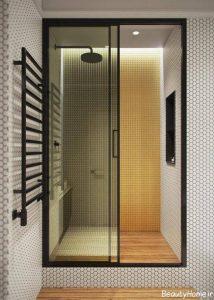 طراحی نورپردازی حمام شیشه ای