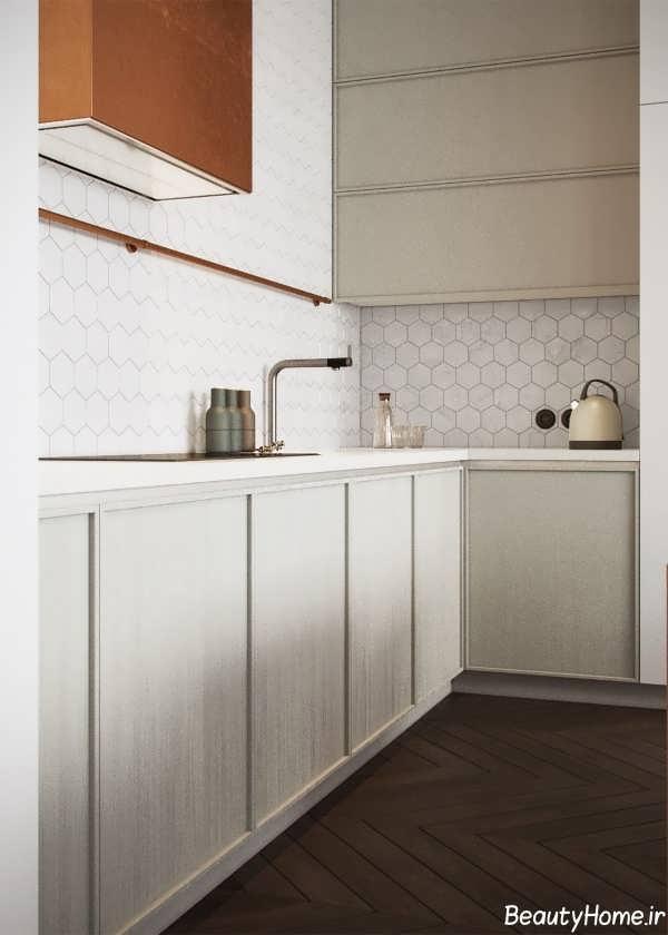 طراحی نورپردازی مدرن آشپزخانه