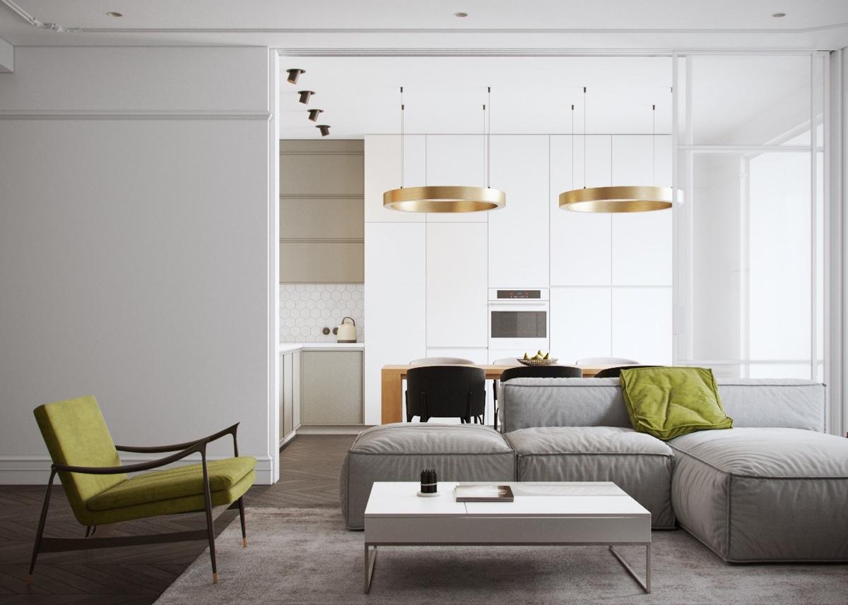 طراحی نورپردازی آپارتمان دو خوابه
