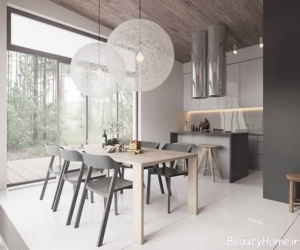 دکوراسیون مینیمالیستی خانه ویلایی با طراحی مدرن و جذاب