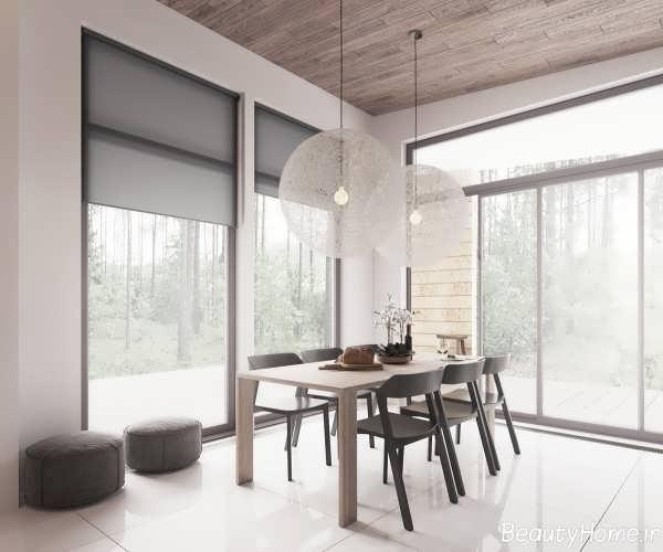 طراحی دکوراسیون زیبا و جذاب خانه ویلایی با سبک مینیمال