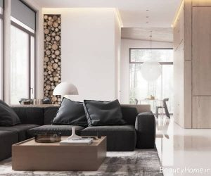طراحی شیک و کاربردی خانه ویلایی با دکوراسیون مینیمال