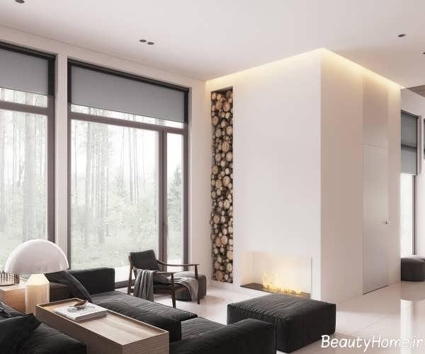 طراحی جذاب اتاق نشیمن