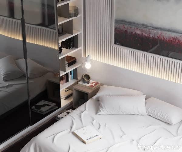 طراحی اتاق خواب با دکوراسیون متفاوت و کاربردی