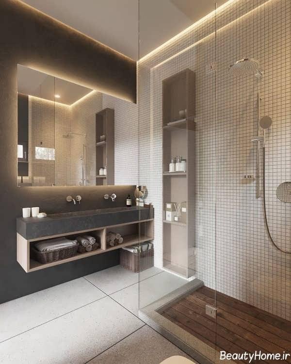 طراحی دکوراسیون سرویس بهداشتی با سبک مینیمال