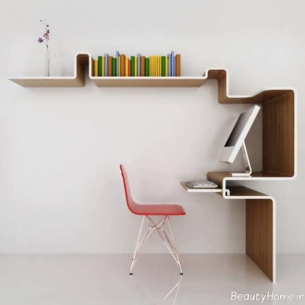 مدل کتابخانه دیواری با طرح زیبا