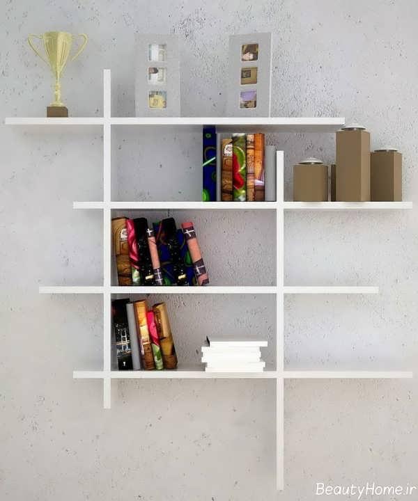 طرح های ساده کتابخانه دیواری