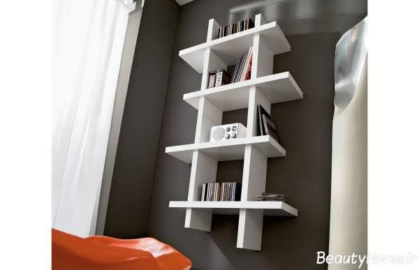 مدل های جذاب و شیک کتابخانه دیواری