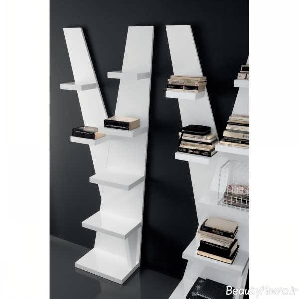 مدل ای کتابخانه دیواری با طراحی شیک و کاربردی