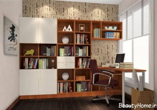مدل کتابخانه دیواری با ابعاد بزرگ