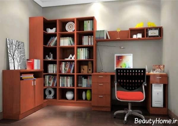 کتابخانه دیواری با طرح جذاب و جدید